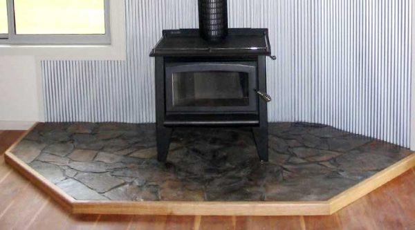 wood heater area